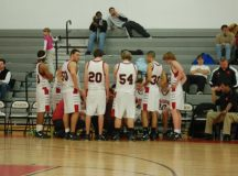 THE MUSTANGS HUDDLE during their Tuesday victory over Strasburg. (Photo: News-Press)